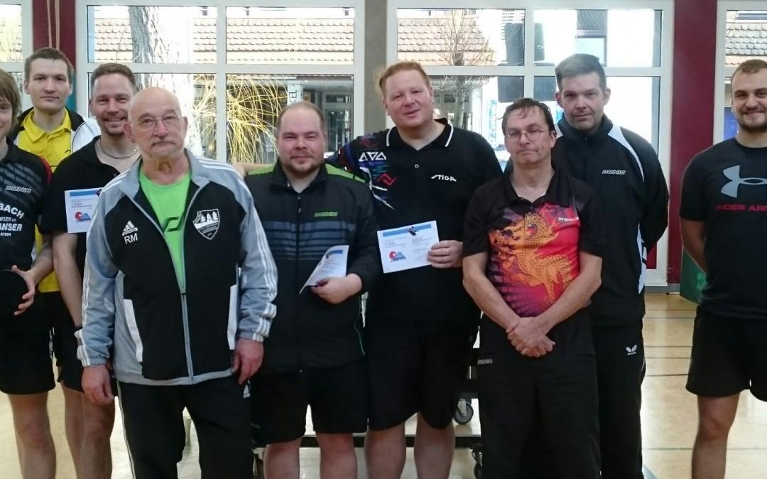Tischtennis VR-Cup Ergebnisse und Bilder