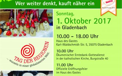TV Gladenbach am Geschirrmobil beim Tag der Regionen