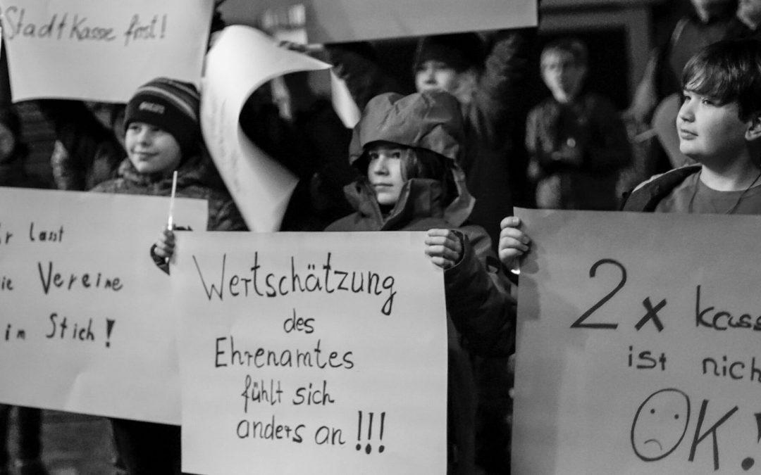 Erste Eindrücke von der Protestveranstaltung