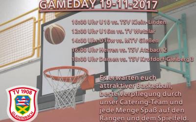 Großer Basketball-Heimspieltag am Sonntag (19.11.2017)