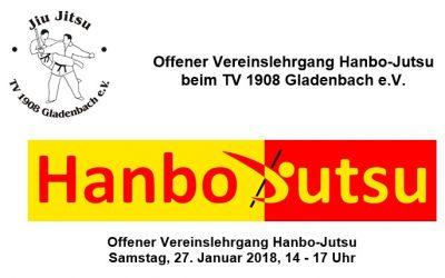 Vereins OFFENES Training Hanbo-Jutsu beim TV 1908 Gladenbach