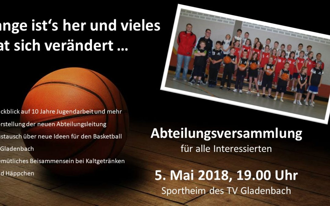 Abteilungsversammlung Basketball