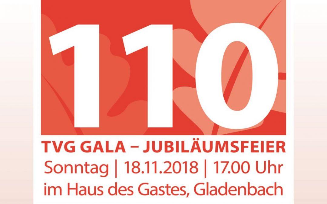 TVG Gala Jubiläumsfeier 110 Jahre TV Gladenbach 1908 e.V. am 18.11.2018