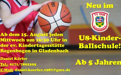 Neues Angebot: Basketball für die Kleinsten