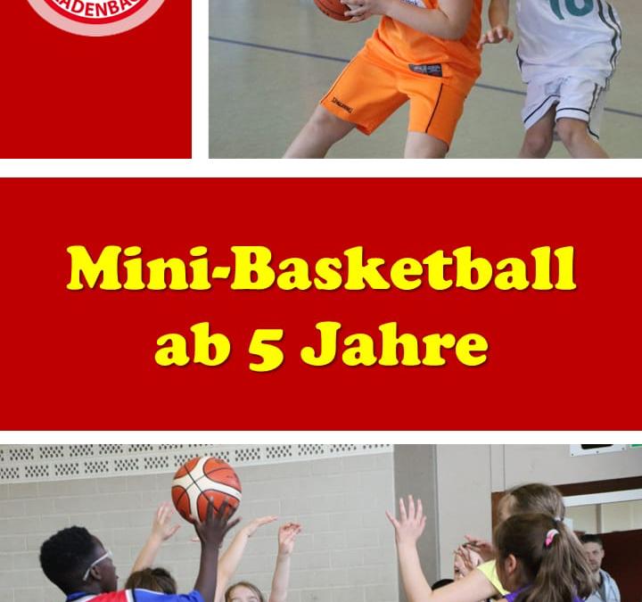 Mini-Basketball ab 5 Jahre