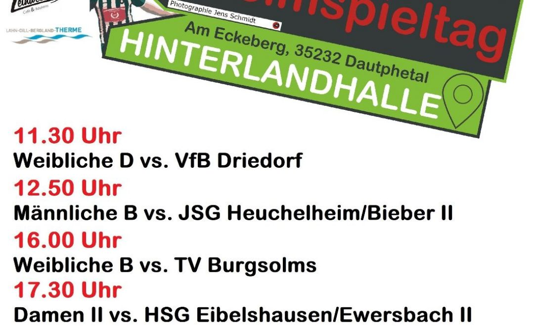 Handball am Sonntag, 15.09.2019 Hinterlandhalle Dautphetal