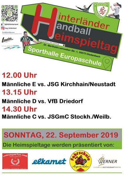 Handball am Sonntag 22.09.2019