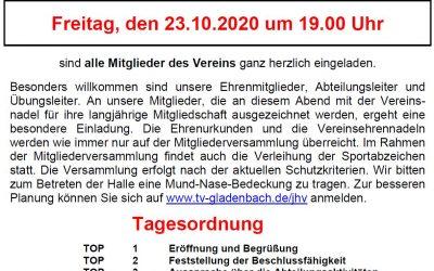 Einladung zur Mitgliederversammlung 2020