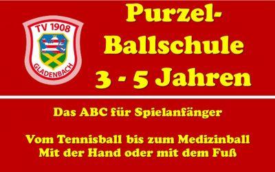 Purzel Ballschule für Kinder 3 – 5 Jahre dienstags 16Uhr